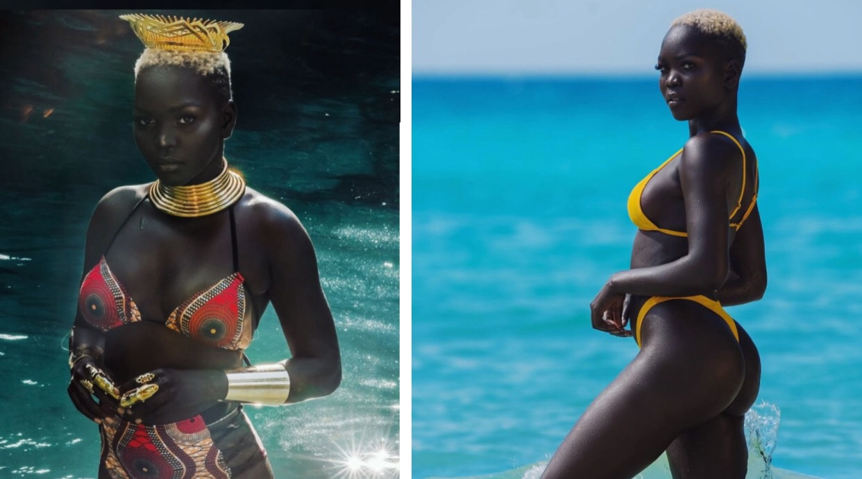 """South Sudanese Model Nyakim Gatwech """"Queen of the Dark"""" Refused $10,000 Offer To Bleach Her Skin"""