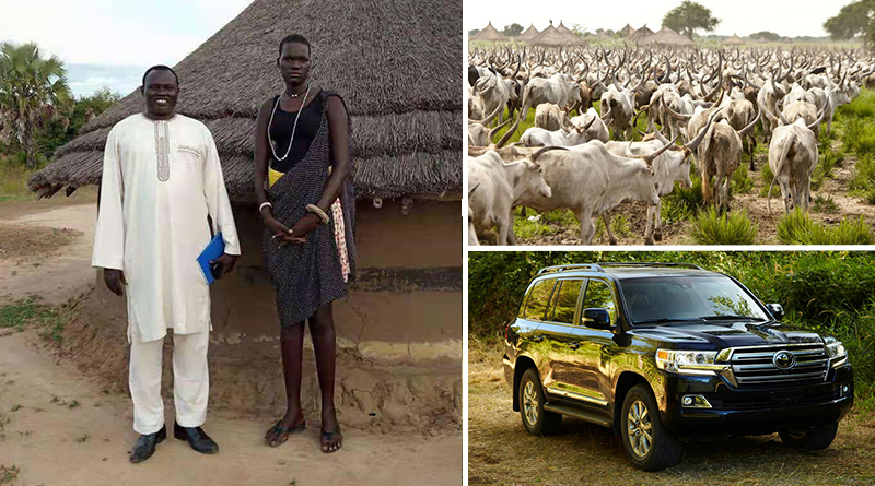 Meet Nyalong Ngong, The Africa's expensive girl whose dowry was 500 cows, three V8s & $10,000